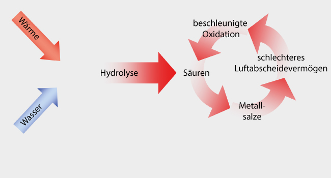 Hydrolyse durch Wärme und Wasser