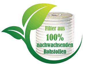 Filtermaterial nachwachsende Rohstoffe