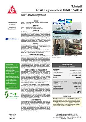 Anwendungsstudie, Motorschmierölpflege, Marine 4-Takt-Dieselmotor