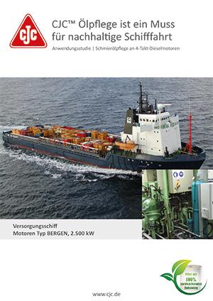 Schmierölpflege Marine Dieselmotor, Versorgungsschiff