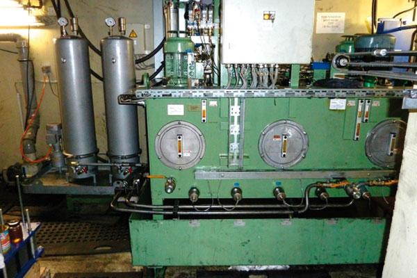 Ölpflege, Hydrauliktank, Presse, Schmieröl-Feinfiltration