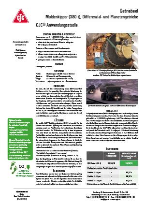 Anwendungsstudie, Getriebeölfilter, Differenziale, Planetengetriebe