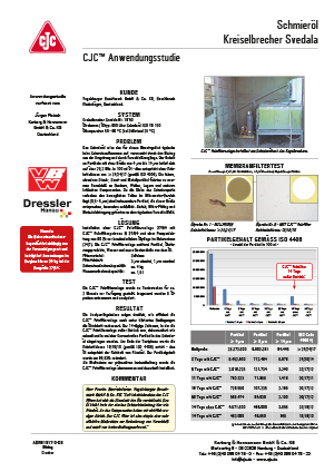 Anwendungsstudie Schmieröl-Filtration, Kreiselbrecher Svedala