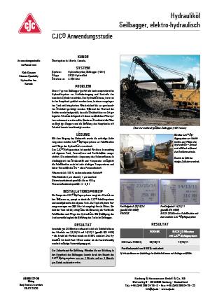 Anwendungsstudie, Hydrauliköl-Feinfiltration, Seilbagger