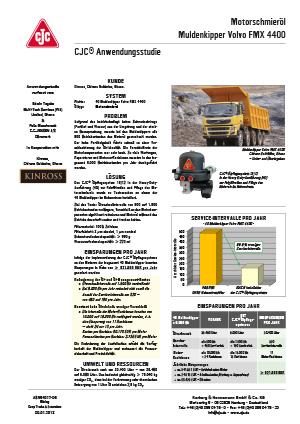Anwendungsstudie, Motorschmieröl-Feinfiltration, Muldenkipper, Volvo FMX 4400