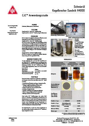 Anwendungsstudie, Schmieröl Filtration, Kegelbrecher Sandvik H4000