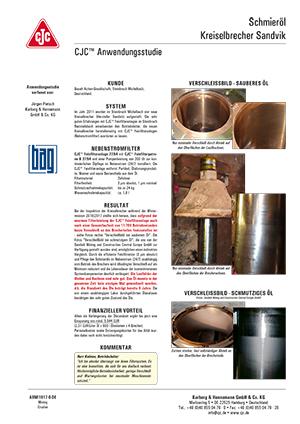 Anwendungsstudie, Schmieröl pflegen, Kreiselbrecher SANDVIK