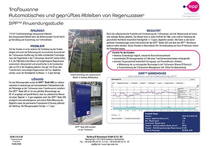 Anwendungsstudie, Trafowanne, Automatisches Ableiten von Regenwasser