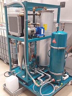 Ölpflegesystem, Bearbeitungsöl aufbereiten