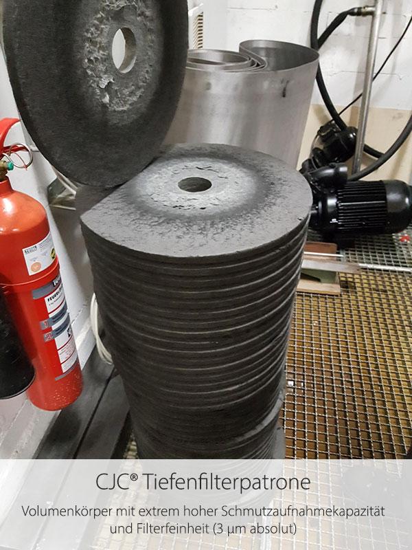 Schleiföl-Feinfiltration, CJC KSS-Filter, Test-Filtration