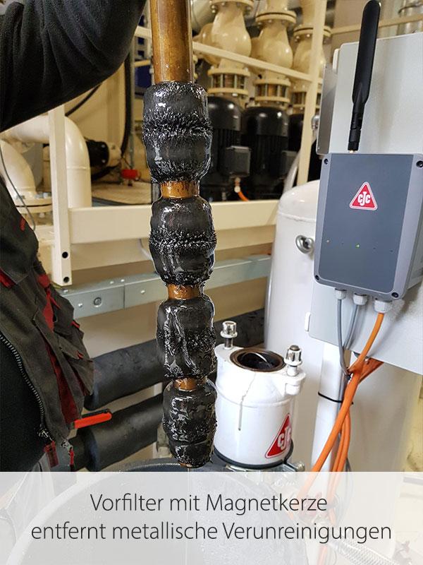 Schleiföl-Feinfiltration, Vorfilter, Magnetkerze, CJC KSS-Filter