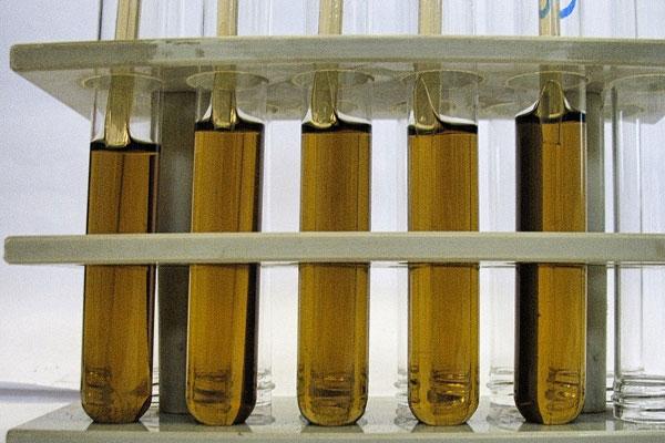 Schleiföl-Feinfiltration, Schleifmaschinen, Zentralanlage, Schleiföl-Proben