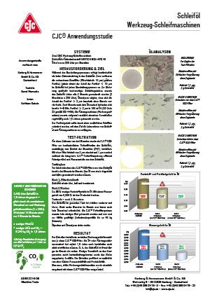 Schleiföl-Filtration, Werkzeug-Schleifmaschinen Anwendungsstudie