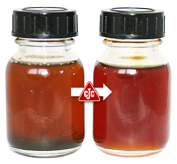 CJC® oil samples before-after