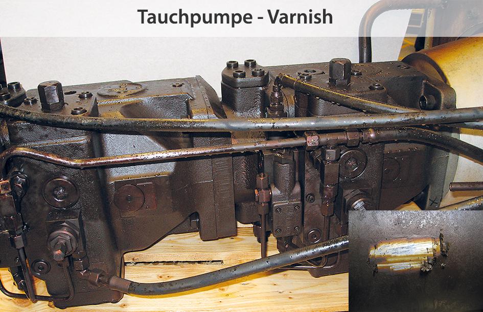Fluidpflege und Filtration in Hydrauliksystemen, Varnish an Pumpen vermeiden