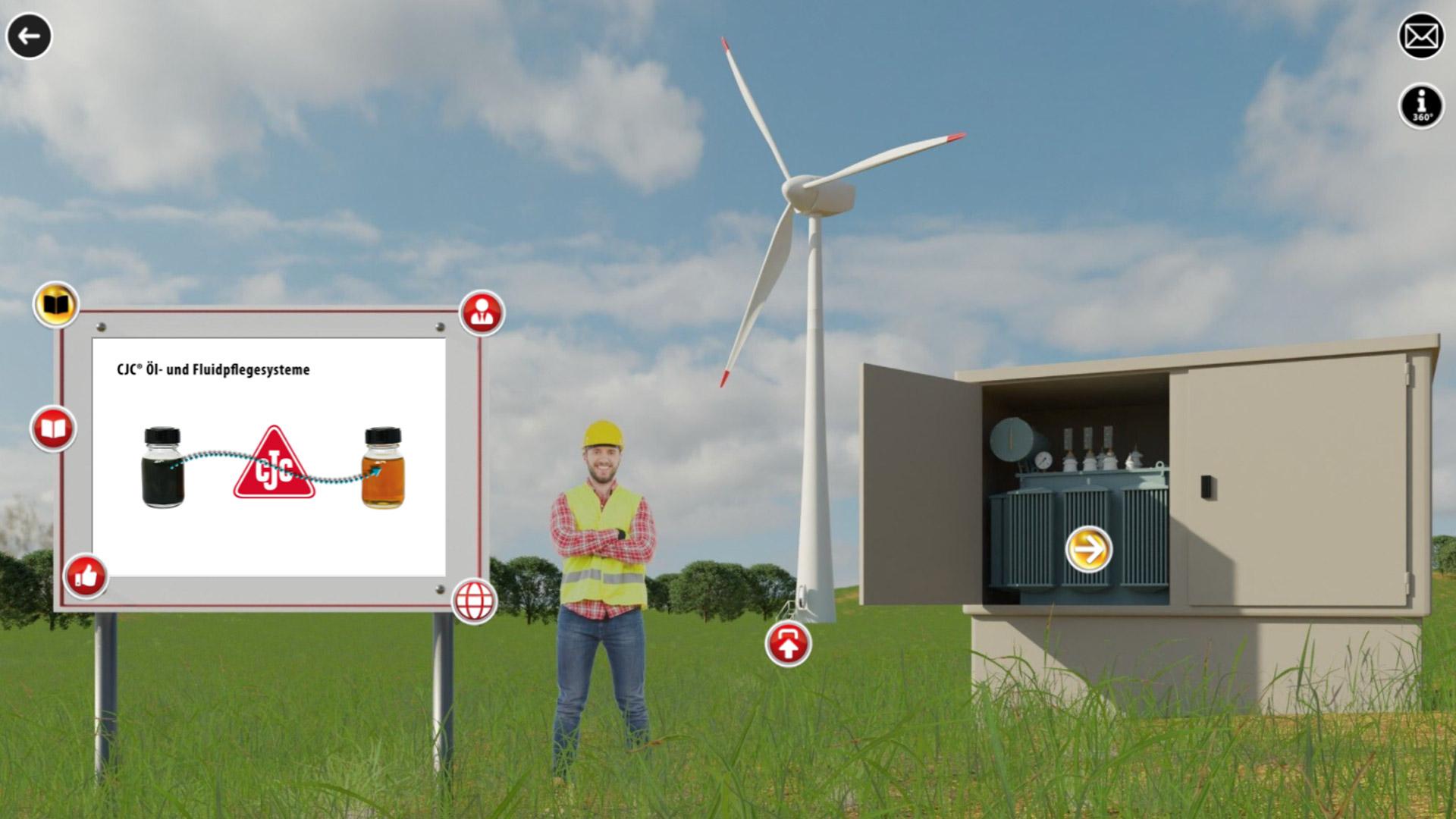 showroom, cjc, ölpflege in windenergieanlagen